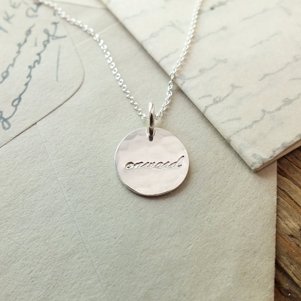 Onward Round Charm Necklace