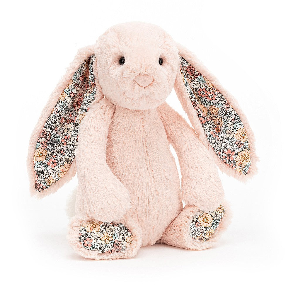Doudou lapin rose blush blossom medium