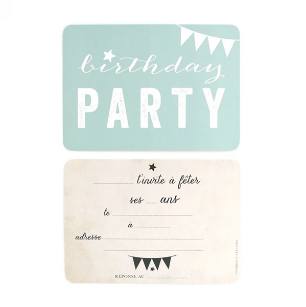 Carte Birthday Party