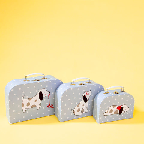 Set 3 valize pentru depozitare Barney the Dog look