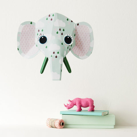 Sticker decorativ pentru copii Elephant clouds