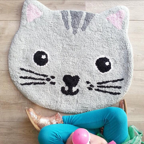 Covoraș decorativ Nori Cat Kawaii Friends, bumbac