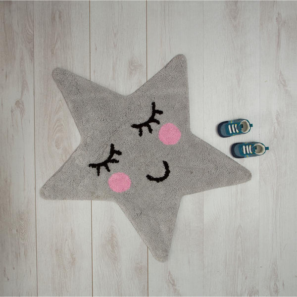 Covoraș decorativ Sweet Dreams Grey Star sass&belle, bumbac 100%