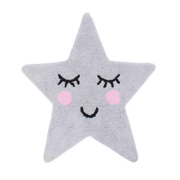 Covoraș decorativ Sweet Dreams Grey Star, bumbac 100%