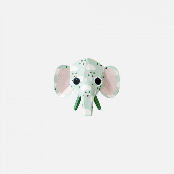 Sticker decorativ pentru perete Elephant clouds 14 x 12 cm