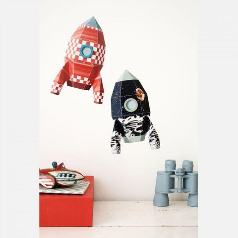 Sticker decorativ Rocket cubes 18 x 28 cm