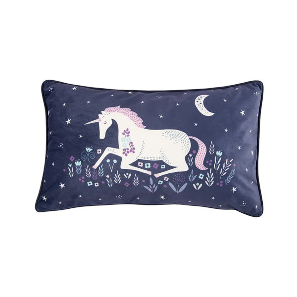 Pernă decorativă Starlight Unicorn, 50 x 30 cm