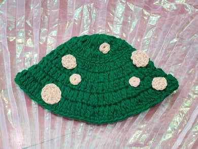 Ready to ship green toadstool bucket hat