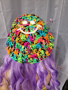 Neon Smiley Bucket Hat (Ready to Ship)