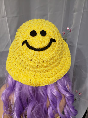 Ready to ship smiley bucket hat