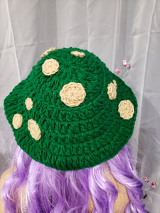 Green Toadstool Bucket Hat (Ready to ship)