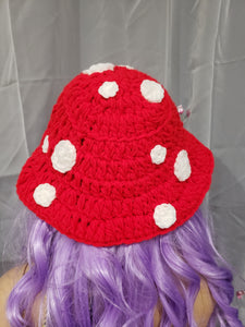 Red Toadstool Bucket Hat (Ready to Ship)