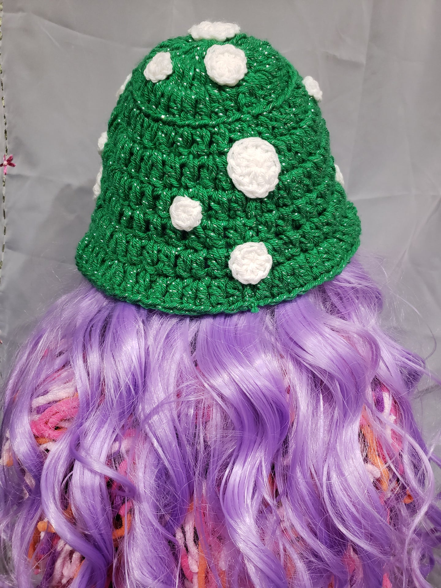 Sparkly Green Toadstool Bucket Hat