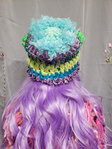 Fluffy Mermaid Beanie (ready to ship)