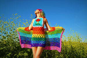 Rainbow Fun Cardigan