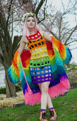 Rainbow Cut Away Dress