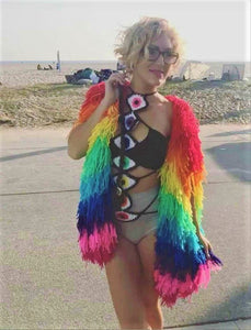 Rainbow Warrior Unisex Shag Vest