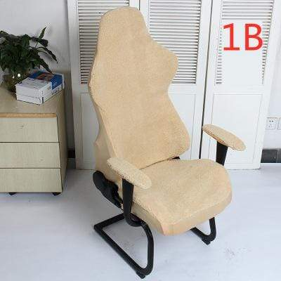 Tan GAMEUR - Housse de chaise extensible en laine d'agneau