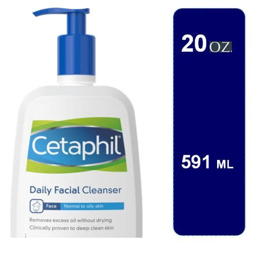 Cetaphil Daily Facial Cleanser - 591ml - E-Pharmacy Ghana