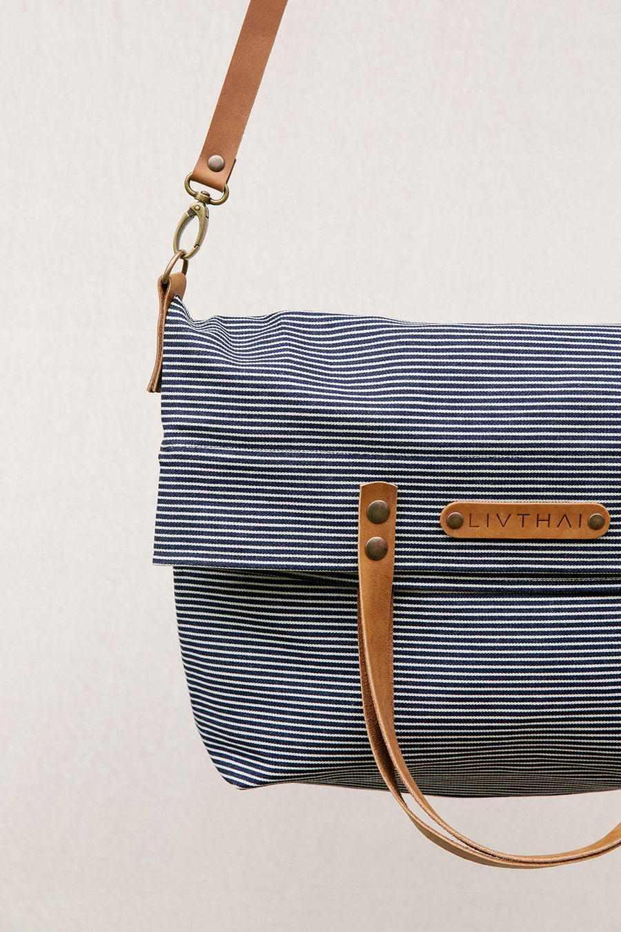 Striped Denim White