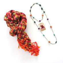 Load image into Gallery viewer, Scarf + Necklace | Fall