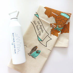 LA Tea Towel + Bottle