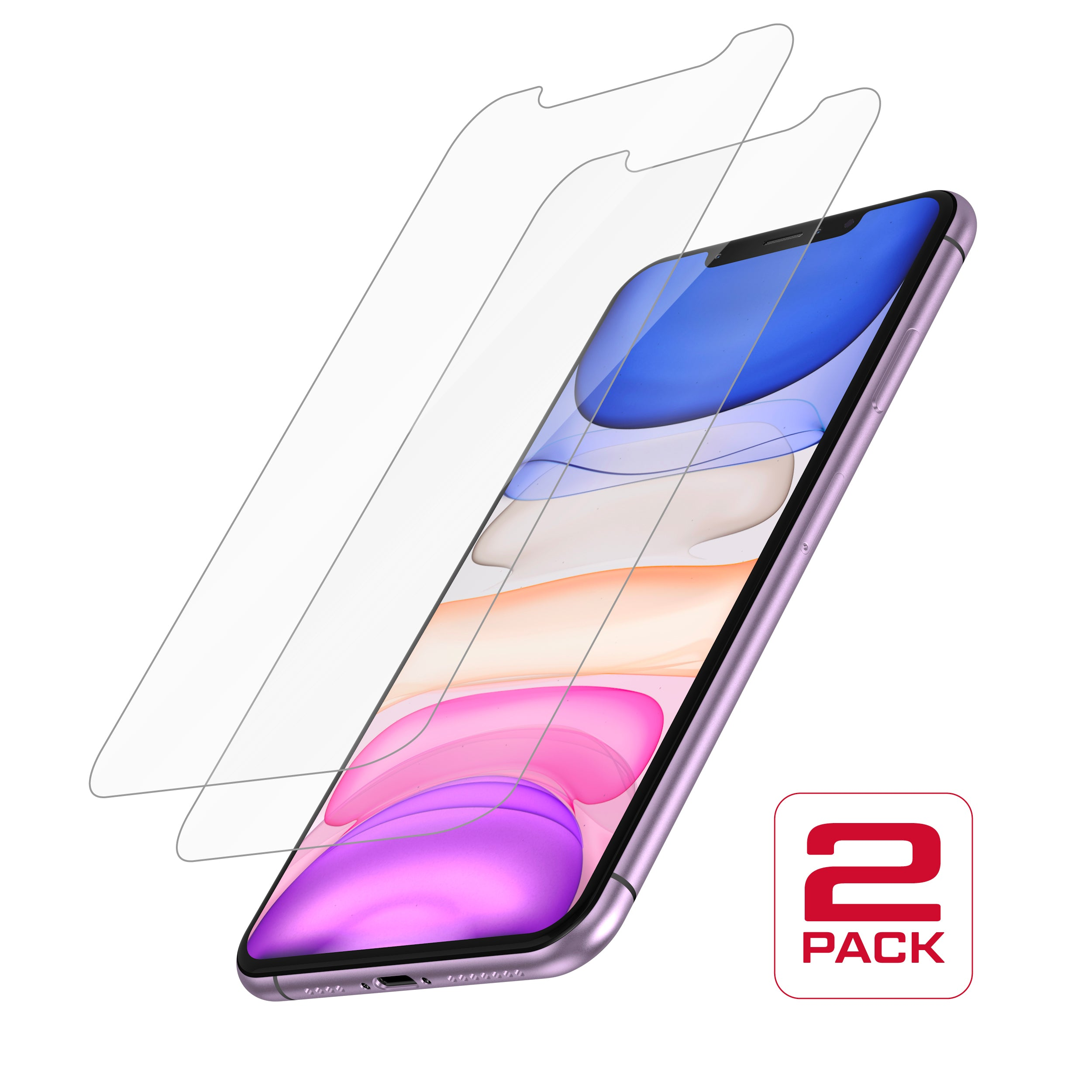 Protective Glass for iPhone 11 / XR<br>Dual Pack