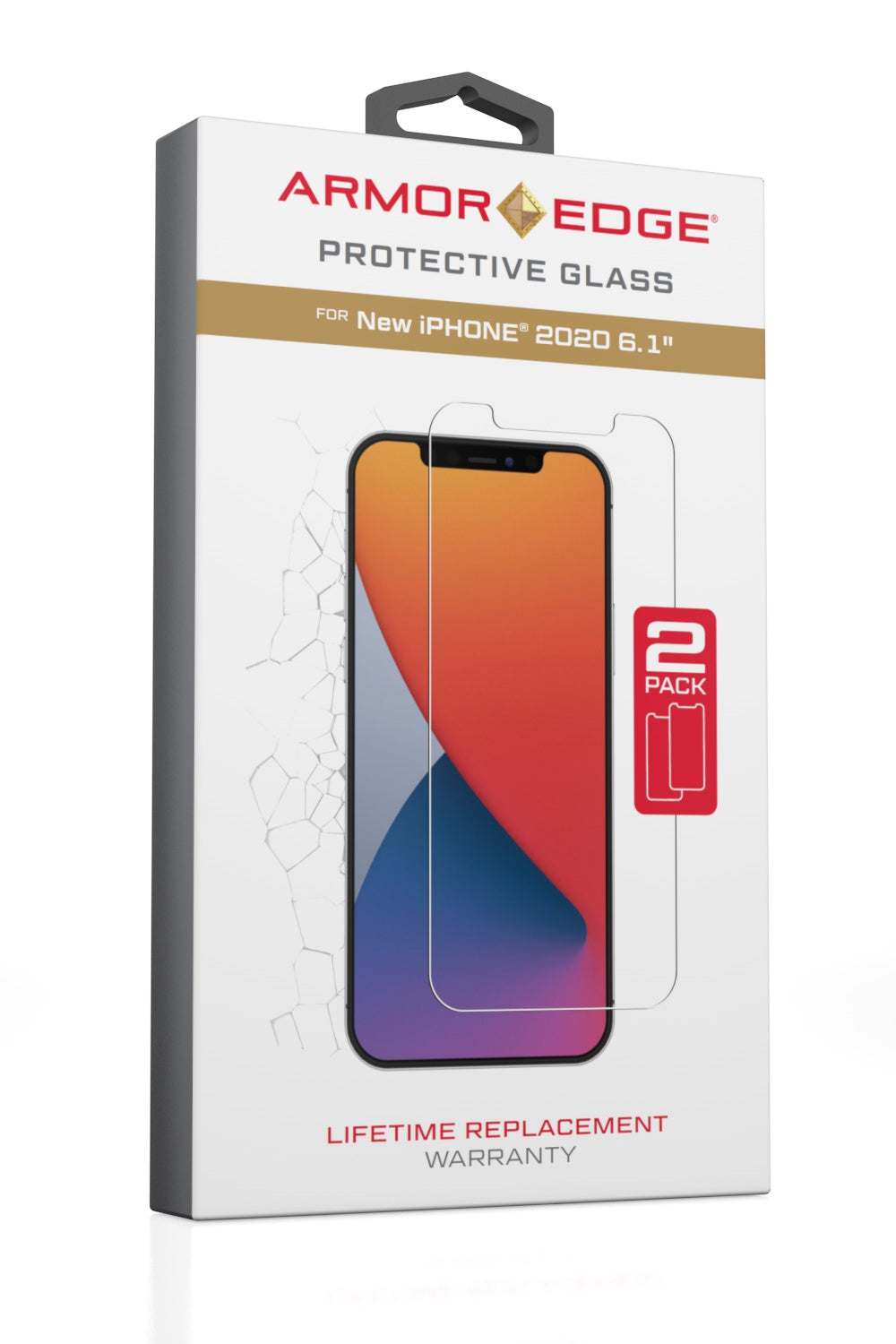 Protective Glass for iPhone 12/12 Pro<br>Dual Pack