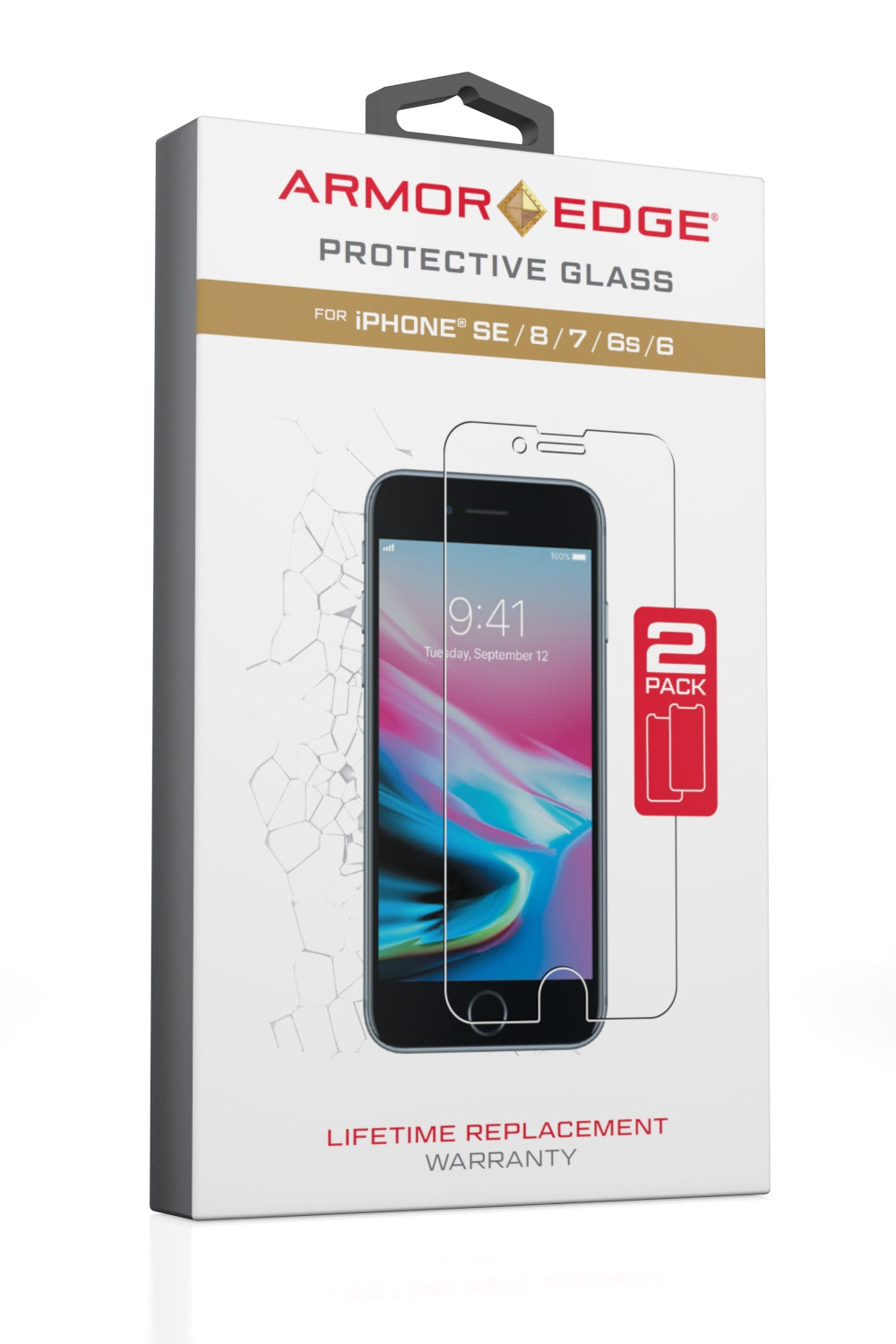 Protective Glass for iPhone SE / 8 / 7 / 6S / 6 - Dual Pack