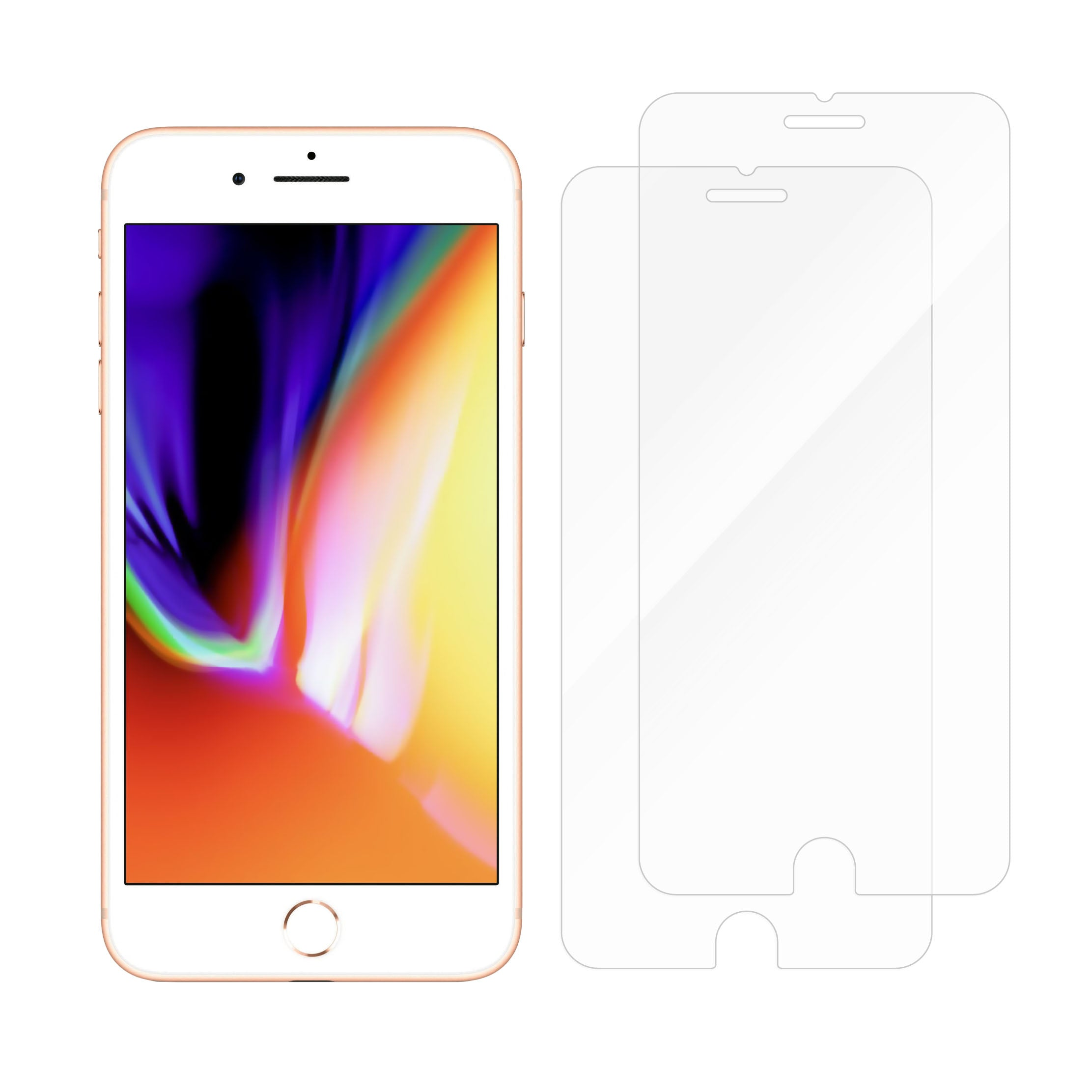 Protective Glass for iPhone 8 Plus / 7 Plus / 6S Plus / 6 Plus - Dual Pack