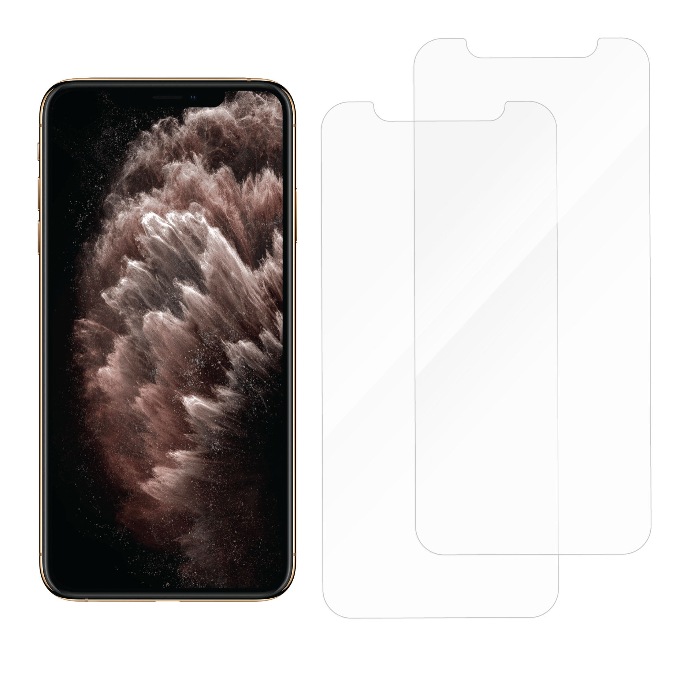 Protective Glass for iPhone 11 Pro Max/XS Max<br>Dual Pack