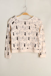 Kids Oatmeal Kitten Sweater