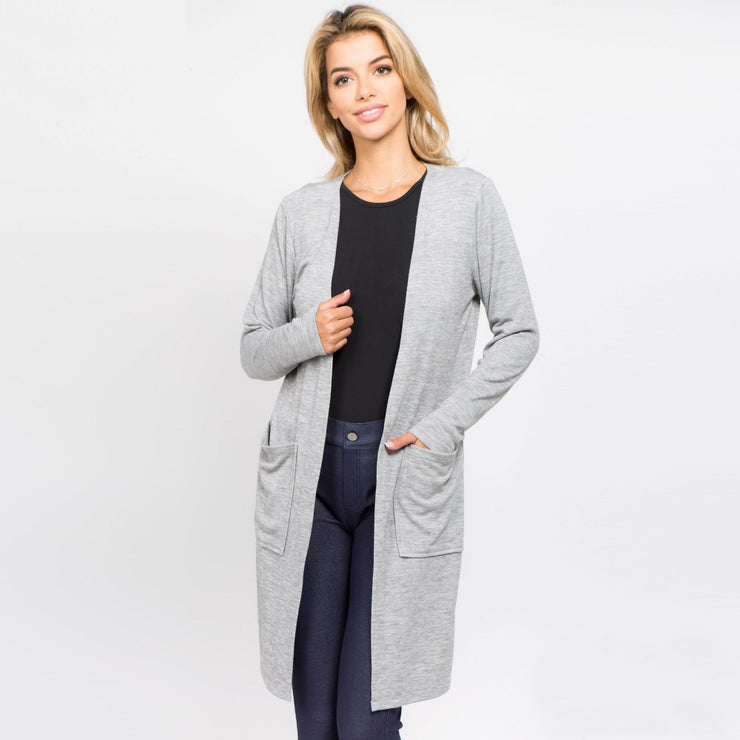 Gray Pocket Cardigan