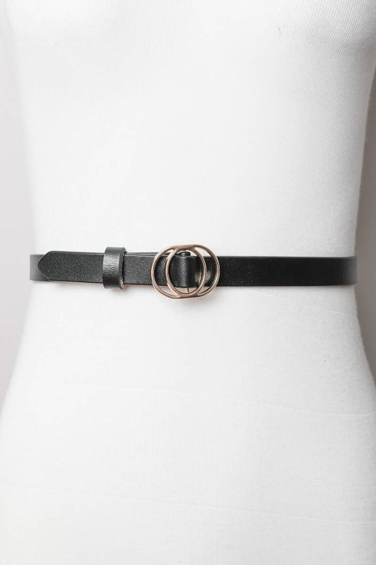 Double Ring Cinch Belt - Black