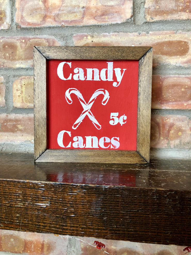 Mini - Candy Canes Sign