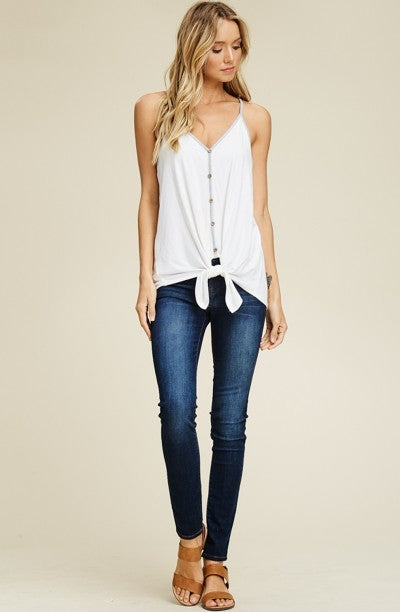 Easy Does It Button Up Tank