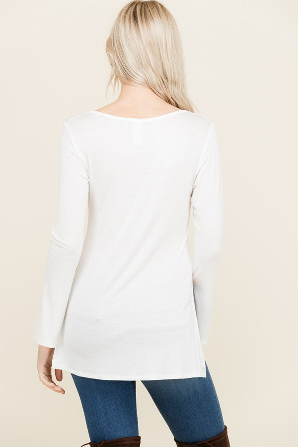 Back to The Basics Top - White