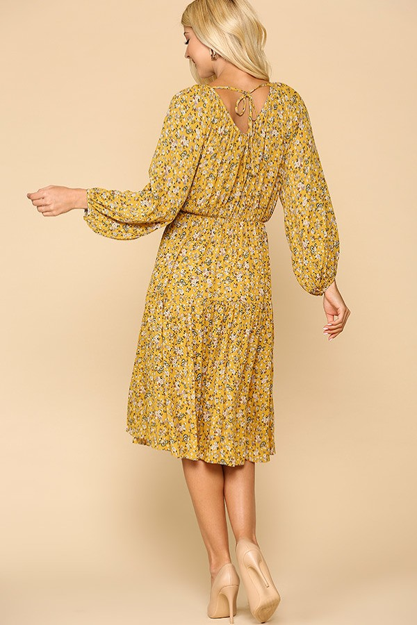 Floral Printed Puff Sleeve Dress