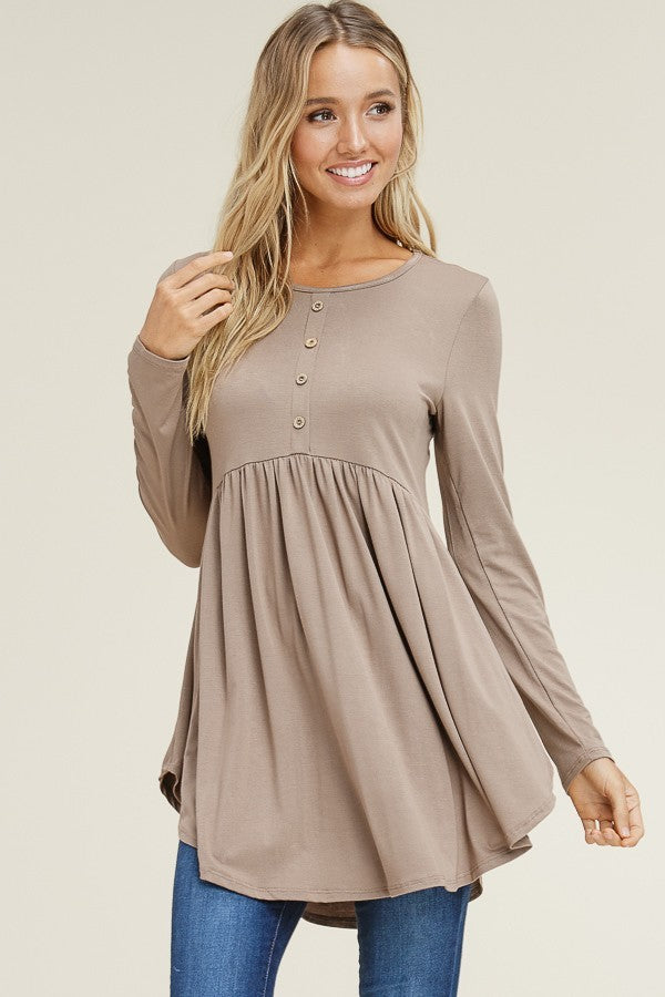 Long Sleeve Babydoll Top