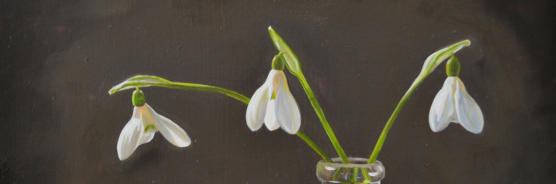 Snowdrops painting series - behind the scenes