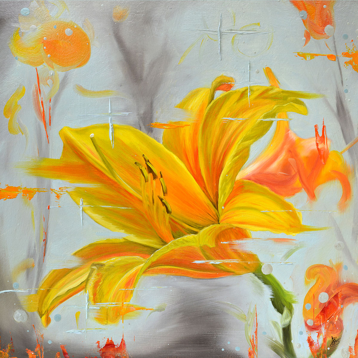 A New Day - original oil painting of a day lily