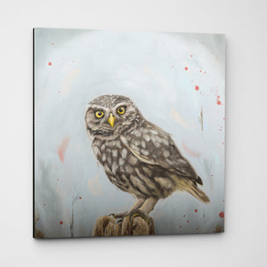Attitude - Owl Art Canvas Print