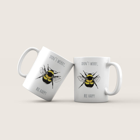 Bee Happy Ceramic Mug
