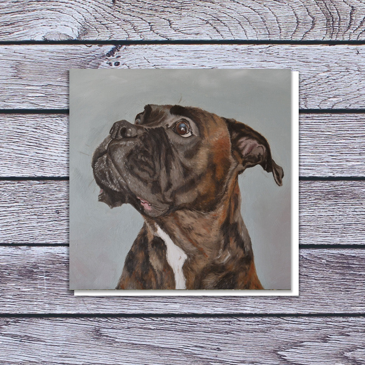 Boxer art card | blank card