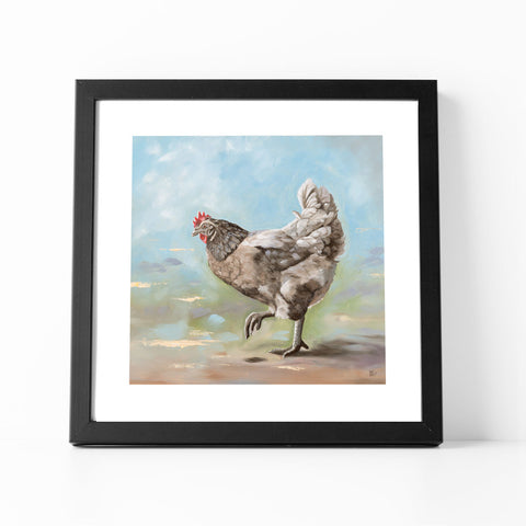Bluebelle Chicken Art Print