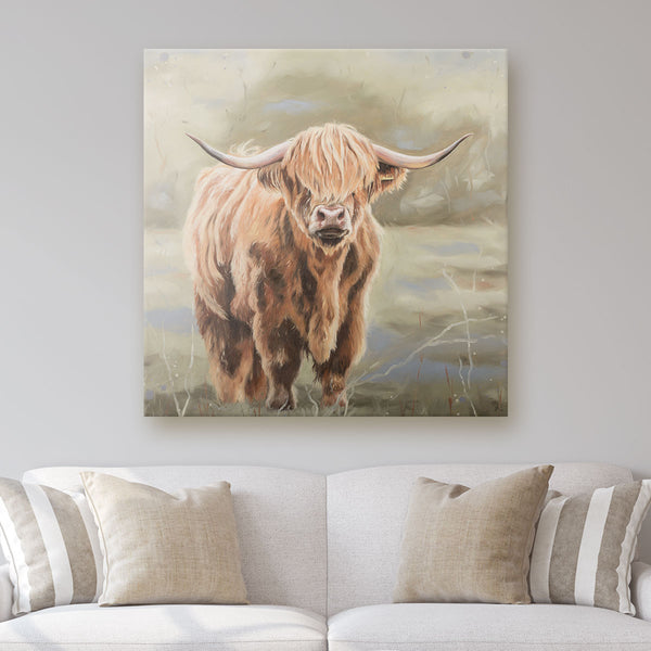 Bonnie - Highland Cow Canvas Print