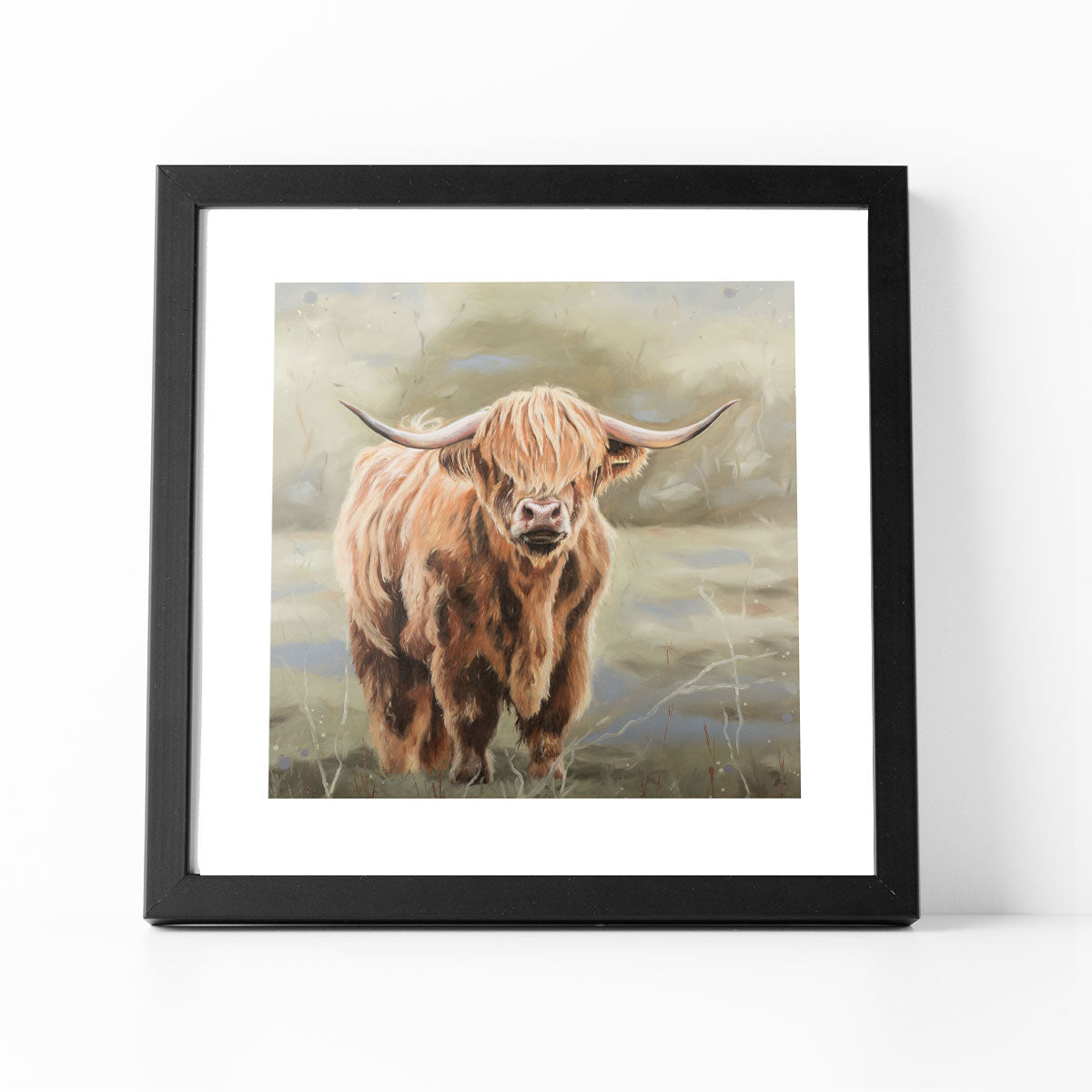 Bonnie Highland cow print