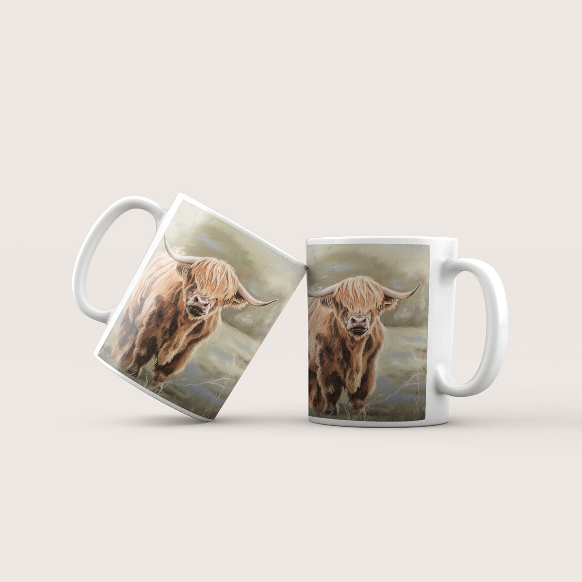 Bonnie Highland cow mug