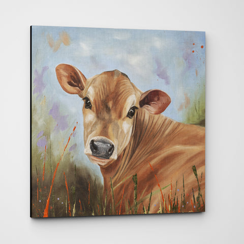 Bright Eyes Jersey cow canvas