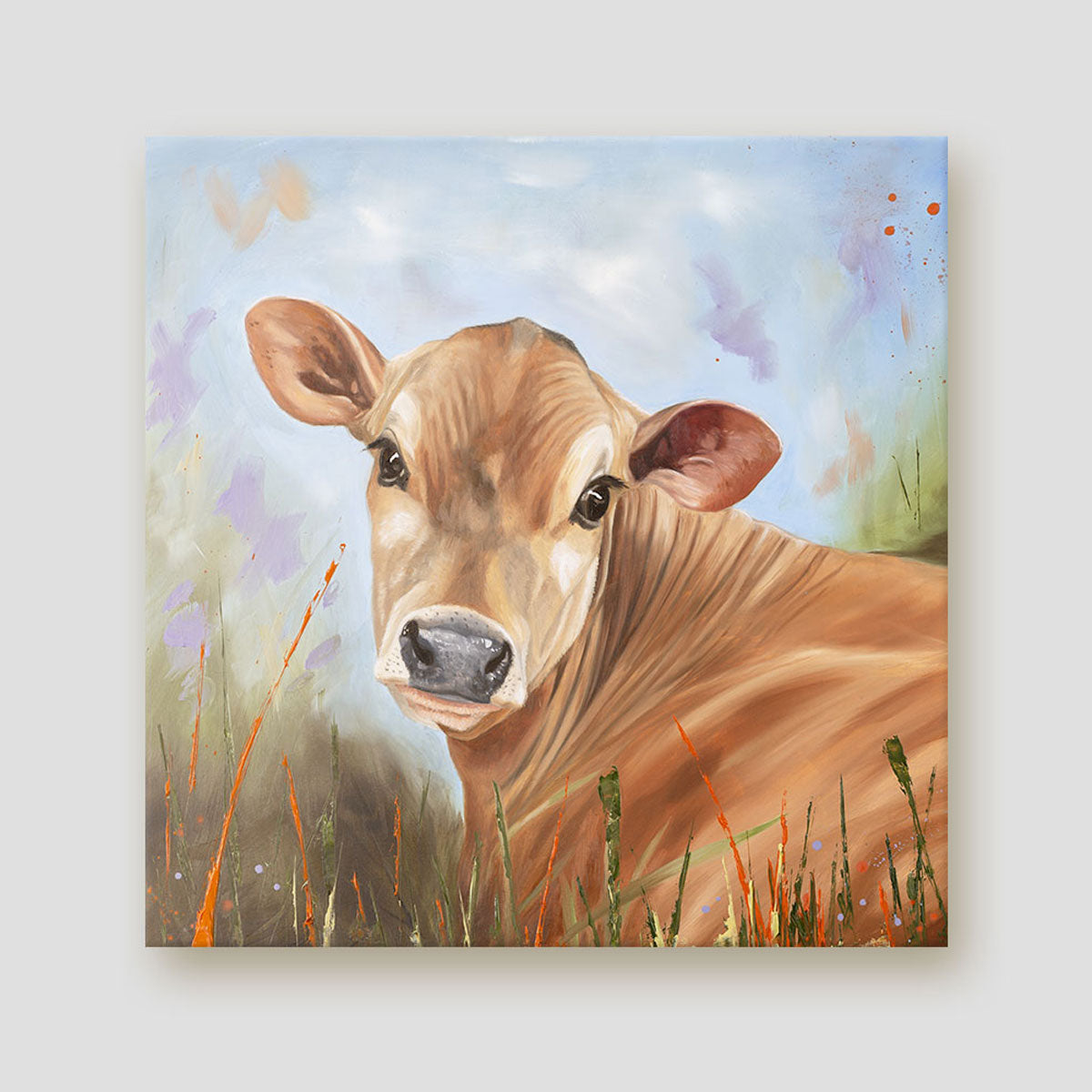 Bright Eyes Jersey cow calf